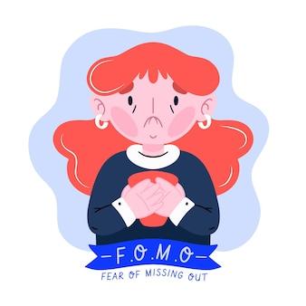 Иллюстрированный страх упустить концепцию