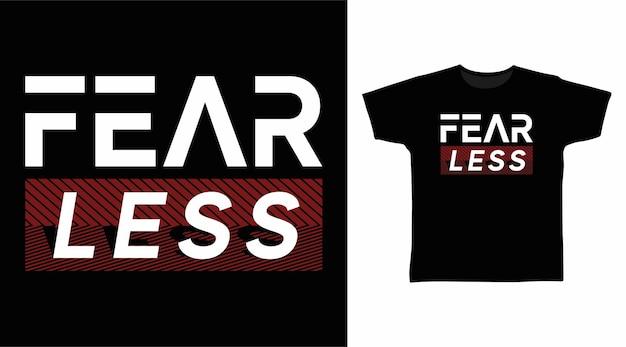 티셔츠 디자인을 위한 두려움 없는 타이포그래피