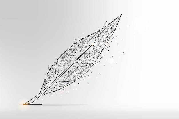Feather abstract polygonal illustration