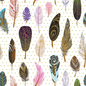 Feather and dots background