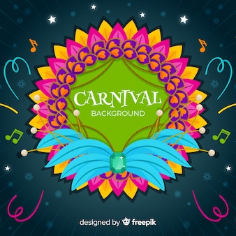 Feather frame carnival background