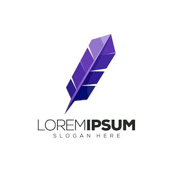 Иллюстрация дизайна логотипа пера