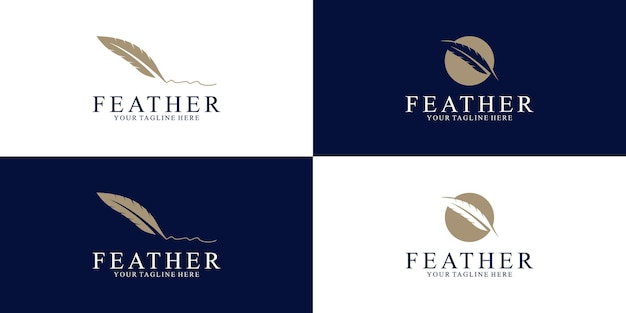Feather logo design inspiration for law and business