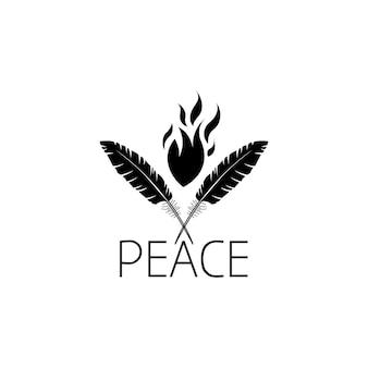 깃털 로고 그래픽 디자인 컨셉입니다. 편집 가능한 깃털 요소는 웹 및 인쇄의 로고, 아이콘, 템플릿으로 사용할 수 있습니다.