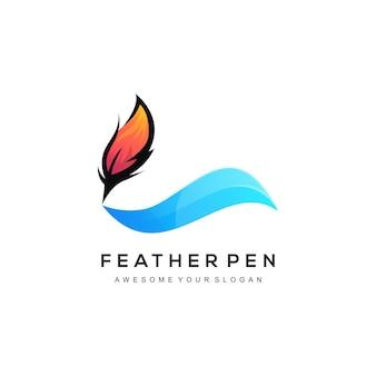 羽のロゴのテンプレート