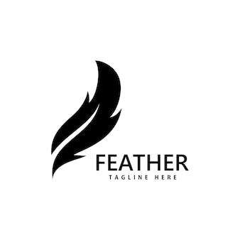 フェザーロゴベクトルデザインテンプレート