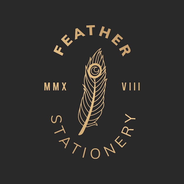 Feather stationery illustration