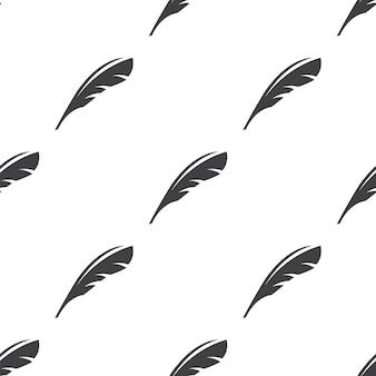 羽、ベクトルのシームレスなパターン、編集可能webページの背景、パターンの塗りつぶしに使用できます