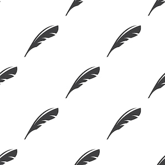 Feather, vector seamless pattern, editable can be used for web page backgrounds, pattern fills