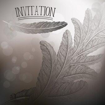 Piume di progettazione per l'invito