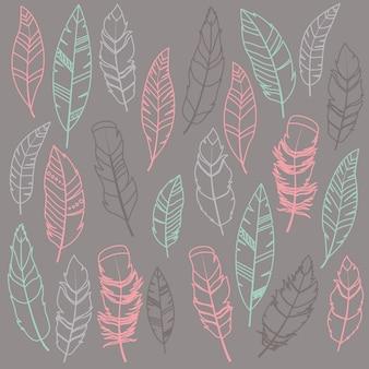 Дизайн перья узор