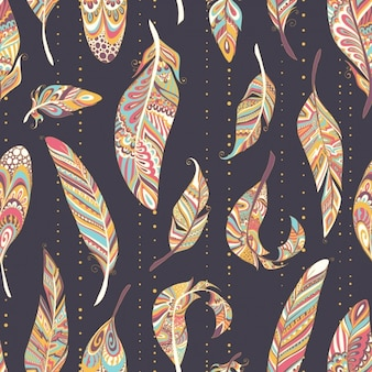Feathers pattern design