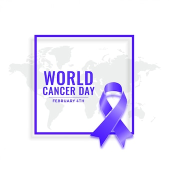 February 4th world cancer day awareness background