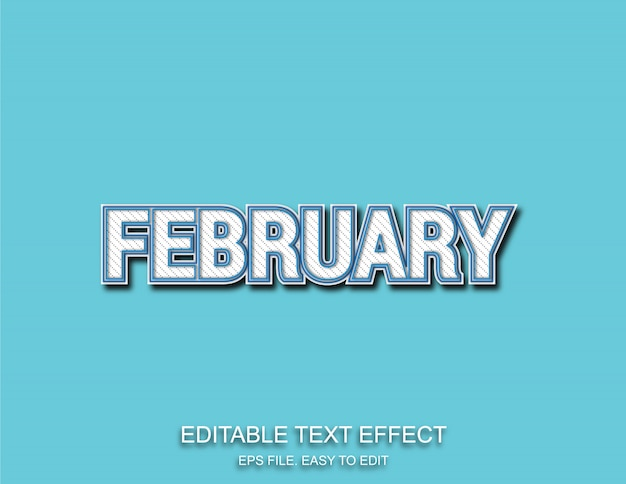 February pattern text effect