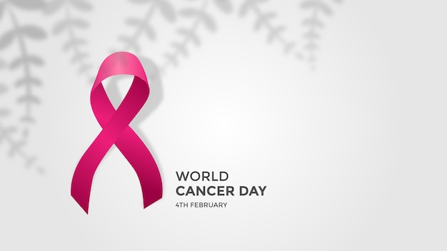 February the world cancer day banner