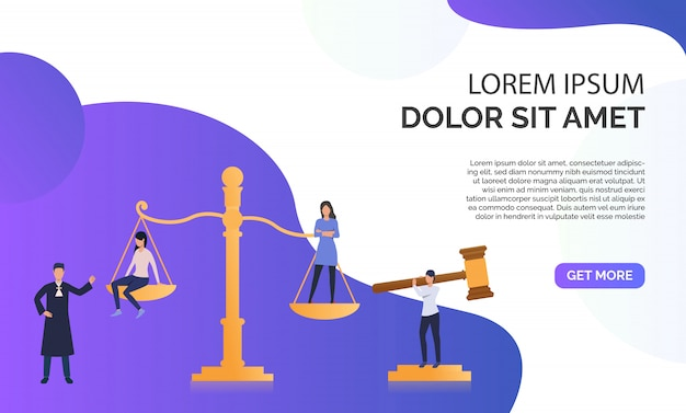 Federal law presentation  illustration