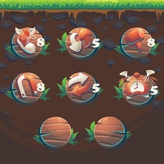 Fox gui match3ゲームのユーザーインターフェイスブースターをフィードします