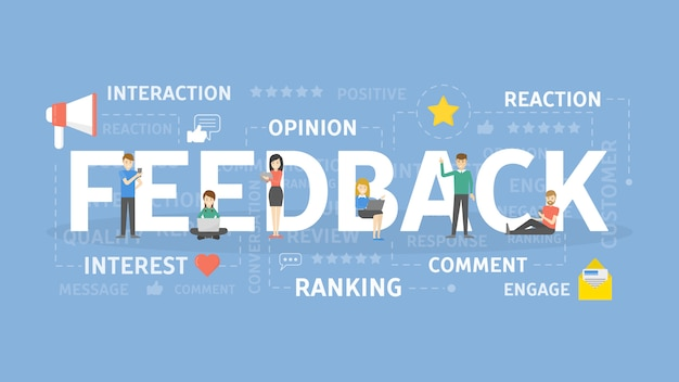 Feedback concept illustration. idea of interest, response and opinion.