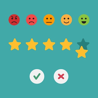 Feedback flat design vector illustration