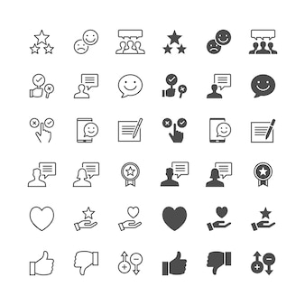 Feedback and review icons