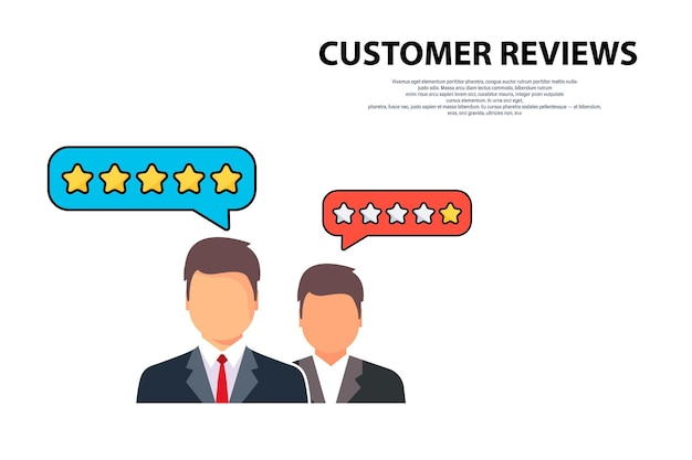 Feedback vector icon. customer satisfaction. feedback consumer or customer review evaluation. business and finance feedback review