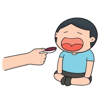 Feeding liquid medicine