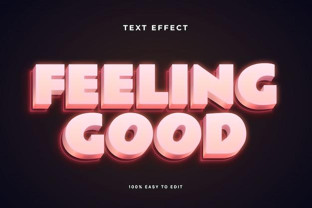 Feeling good text effect