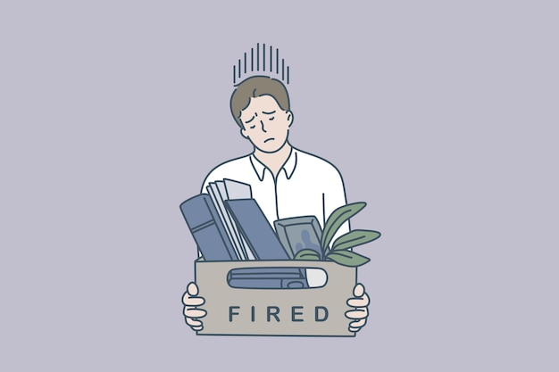 Чувство грусти от увольнения концепции