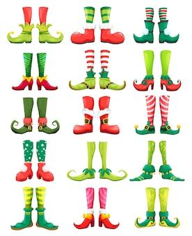 Ноги рождественского эльфа, лепрекона, гнома, феи