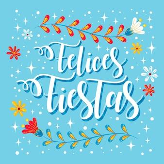 Felices fiestas scritte