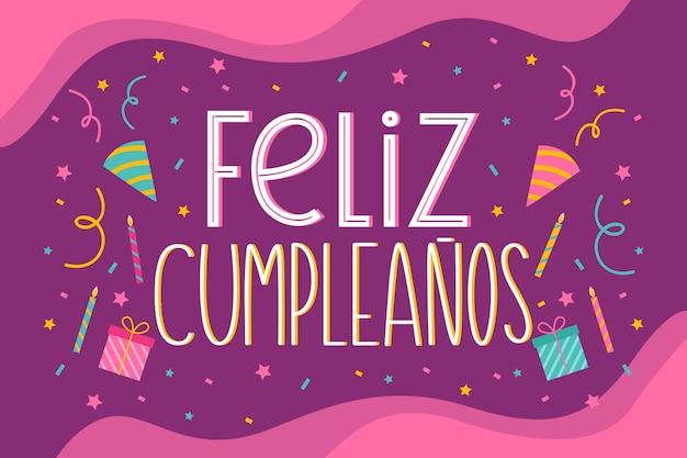 Feliz cumpleaños lettering design