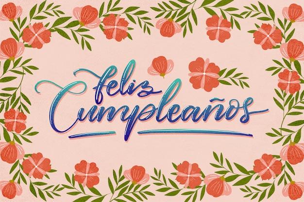Feliz cumpleaños lettering