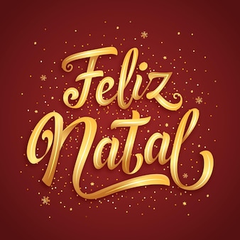 Feliz natal lettering concept
