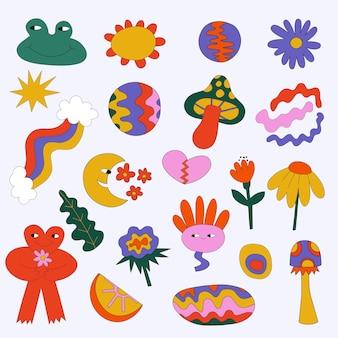 Fellgod hippie sticker collection
