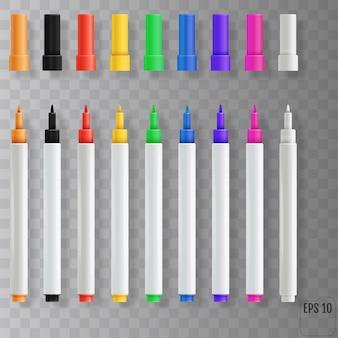 Фломастеры. набор красочных маркеров