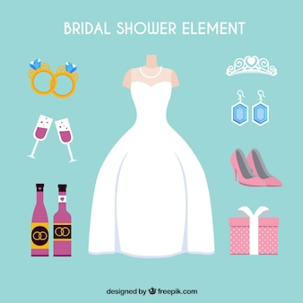 Female accessories ready for the wedding