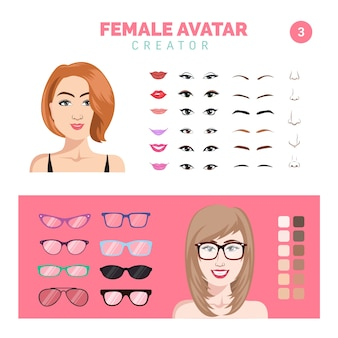 Female avatar creator part 3