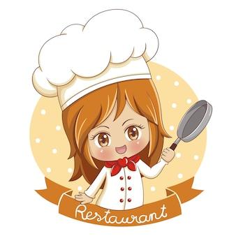 Female baker illustration