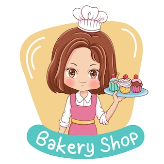 Female baker illustration