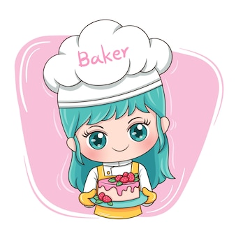 Female baker