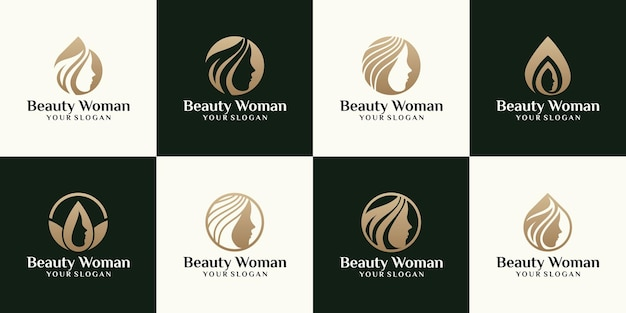 Female beauty logo, with a woman's face silhouette