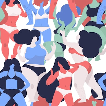 Female bodies beauty of shapes and fit vector