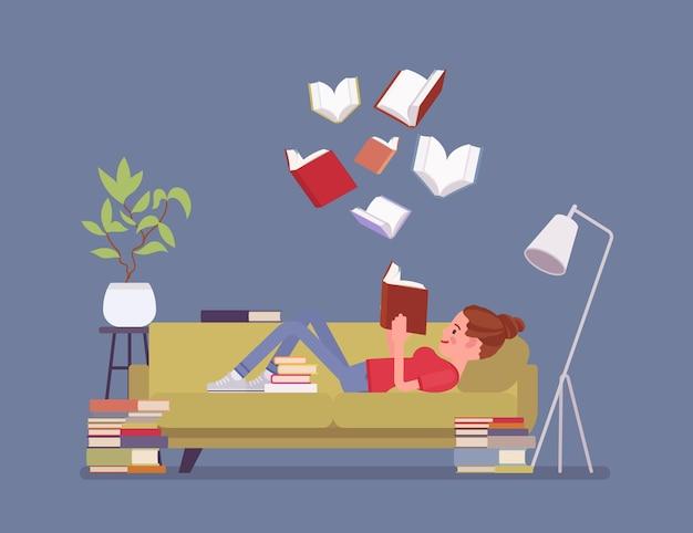 女性の本の読者