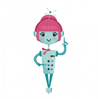 Female cartoon robot