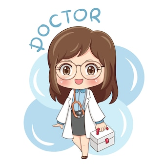 Female character character doctor illustration