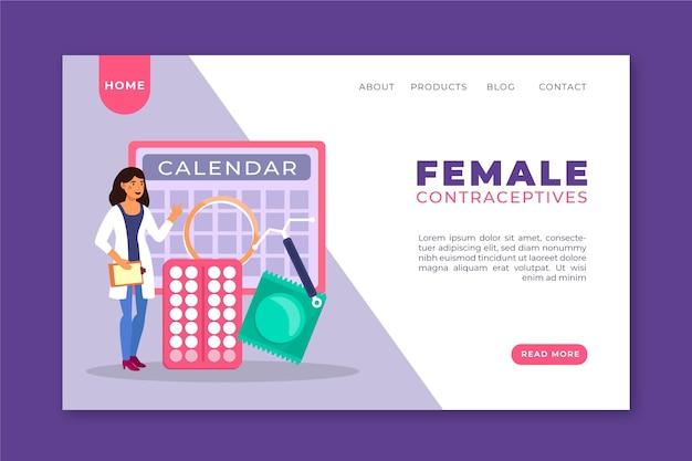 Contraccettivi femminili - pagina di destinazione