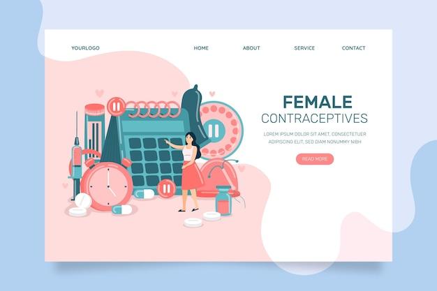 Pagina di destinazione dei contraccettivi femminili