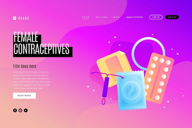Female contraceptives landing page