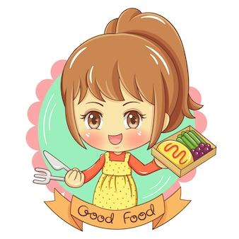 Female cook illustration