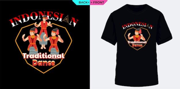 Танцовщица tortor из индонезии подходит для трафаретной печати футболок